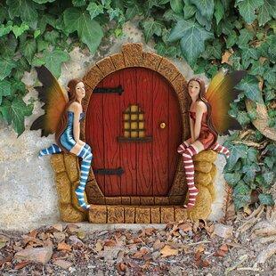 The Enchanted Portal Fairy Door Wall Statue by Design Toscano