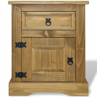 Dale Mexican Pine 1 Drawer Bedside Table By Alpen Home
