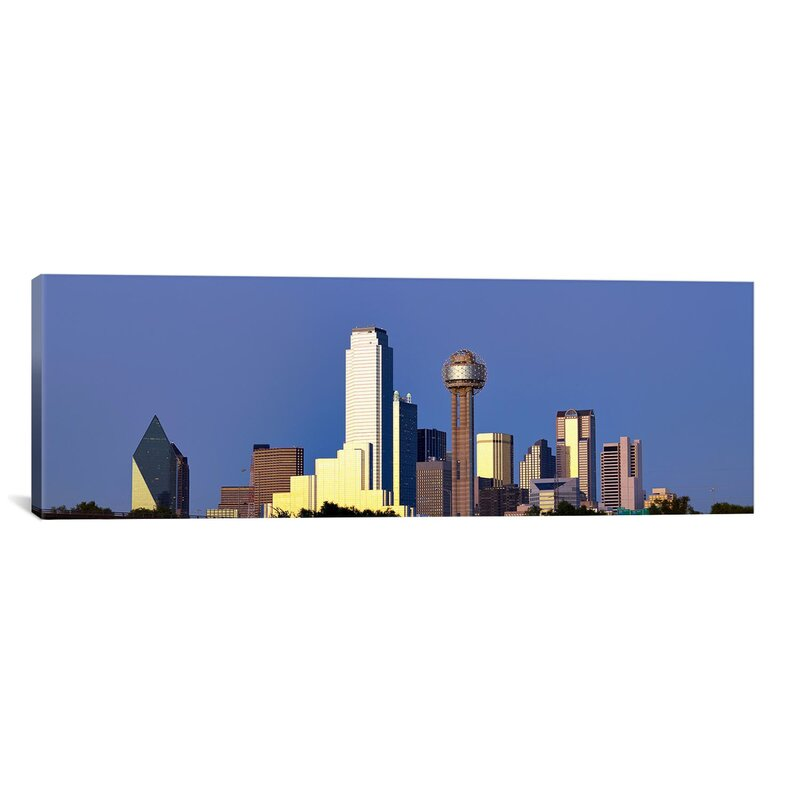Ebern Designs Panoramic Skyscrapers In A City Reunion Tower Dallas Texas Usa 6 Wrapped Canvas Photographic Print Wayfair