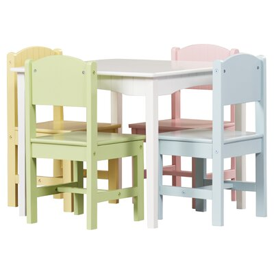 Amazing Kidkraft Nantucket Kids 5 Piece Writing Table Chair Set Short Links Chair Design For Home Short Linksinfo