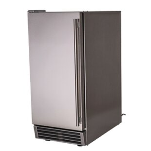 Stainless 44 lb. Daily Production Freestanding Ice Maker