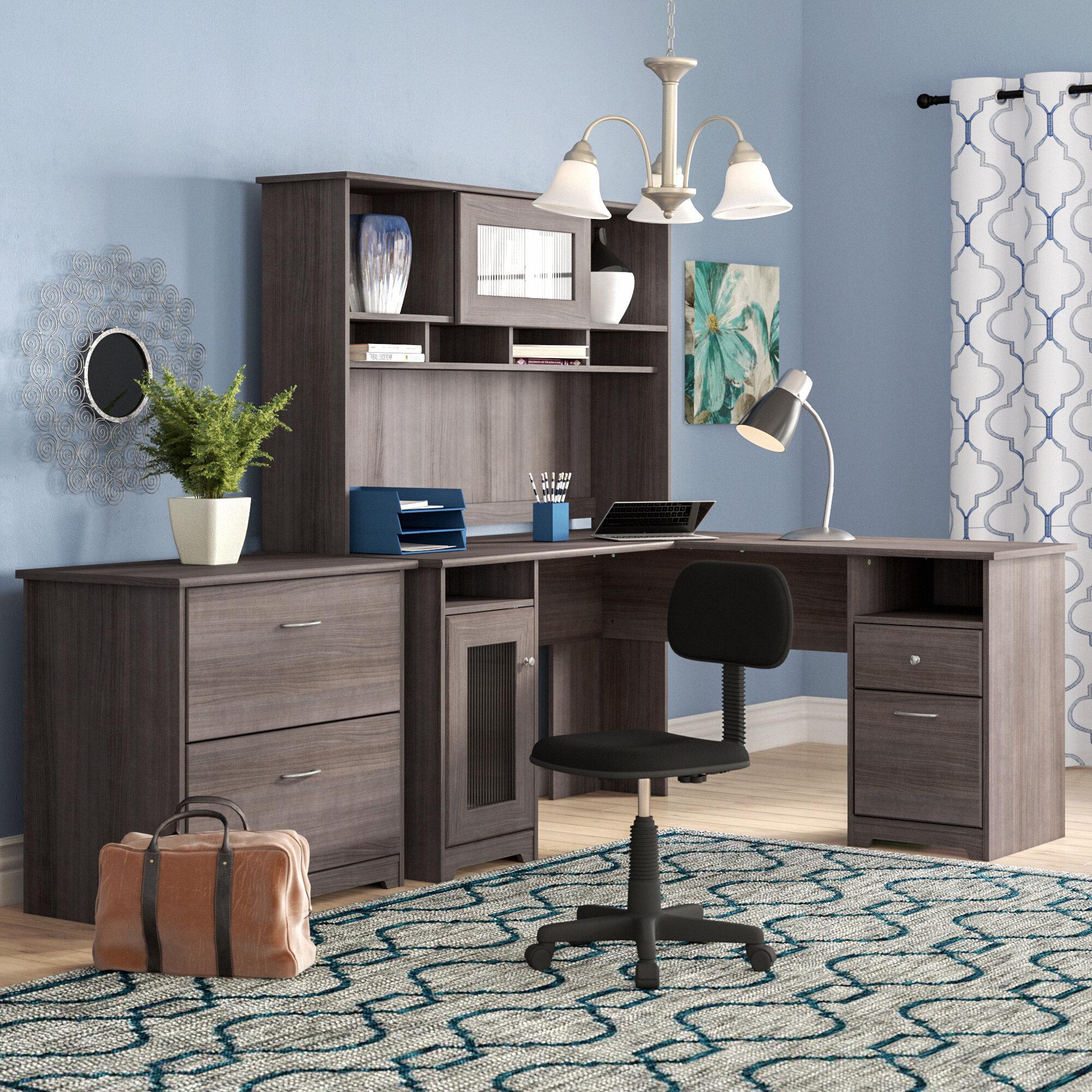 L shaped desks for home office Furniture Ikea Red Barrel Studio Hillsdale Piece Lshape Desk Office Suite Reviews Wayfair Wayfair Red Barrel Studio Hillsdale Piece Lshape Desk Office Suite