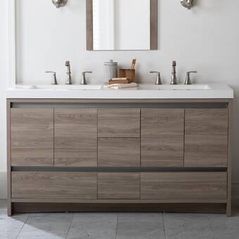Zipcode Design Adria 49 Wall Mounted Single Bathroom Vanity Set Reviews Wayfair