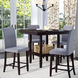 Flynn 5 Piece Counter Height Dining Set Gracie Oaks