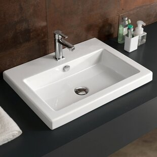 Compare prices Ceramic 24 Wall Mount Bathroom Sink ByCeramica Tecla by Nameeks