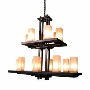 Bellingham 14-Light Shaded Chandelier by Steel Partners