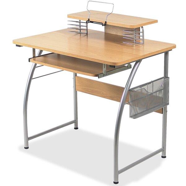 Lorell Upper Shelf Laminate Computer Desk Amp Reviews Wayfair