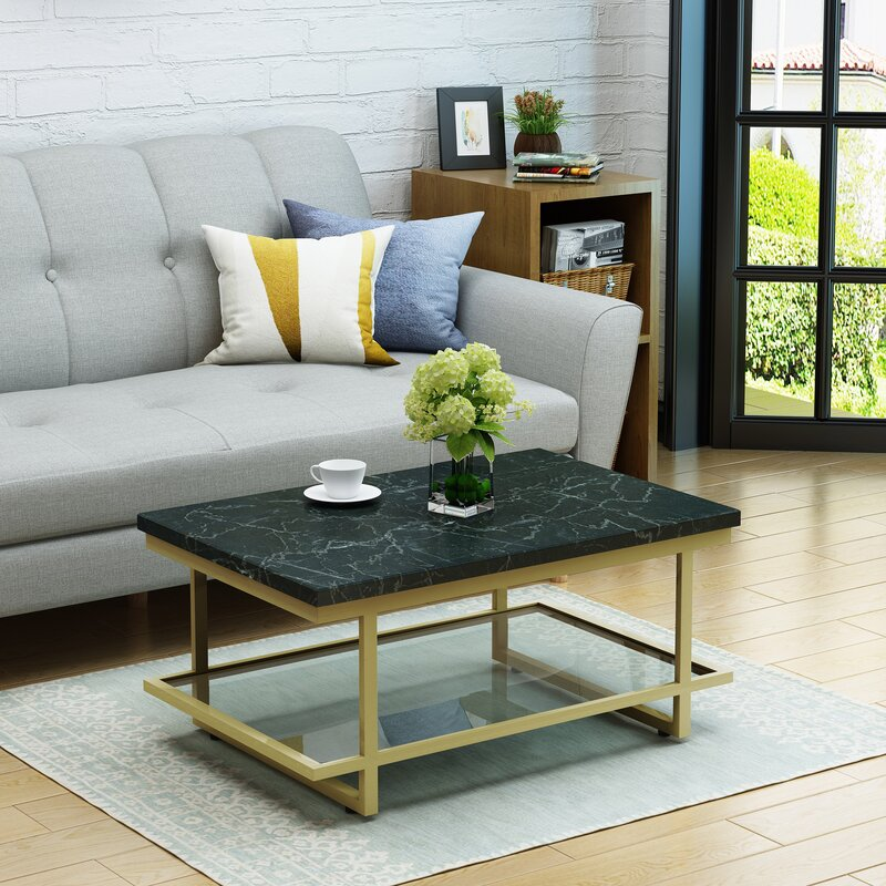 Diboll Marble Coffee Table Reviews Allmodern