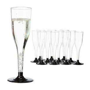Plastic Champagne Flutes (Set Of 12) By Symple Stuff