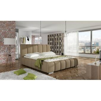 Rosdorf Park Matheson Queen Tufted Platform Bed With Mattress Wayfair