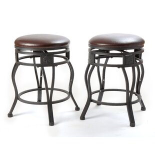 Nakashima 24'' Swivel Bar Stool (Set of 2)