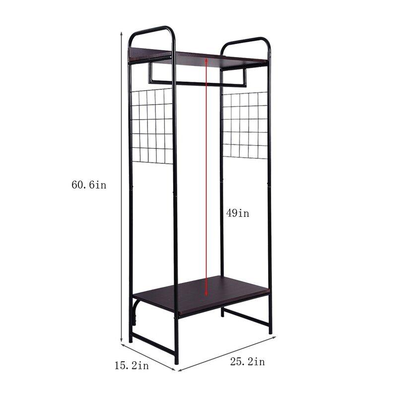 "Latitude Run® Cashon 25.2"" W Floor Rack Multi-Function Storage"