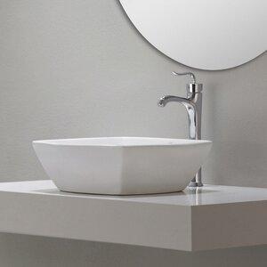 Elavo Ceramic Square Vessel Bathroom Sink