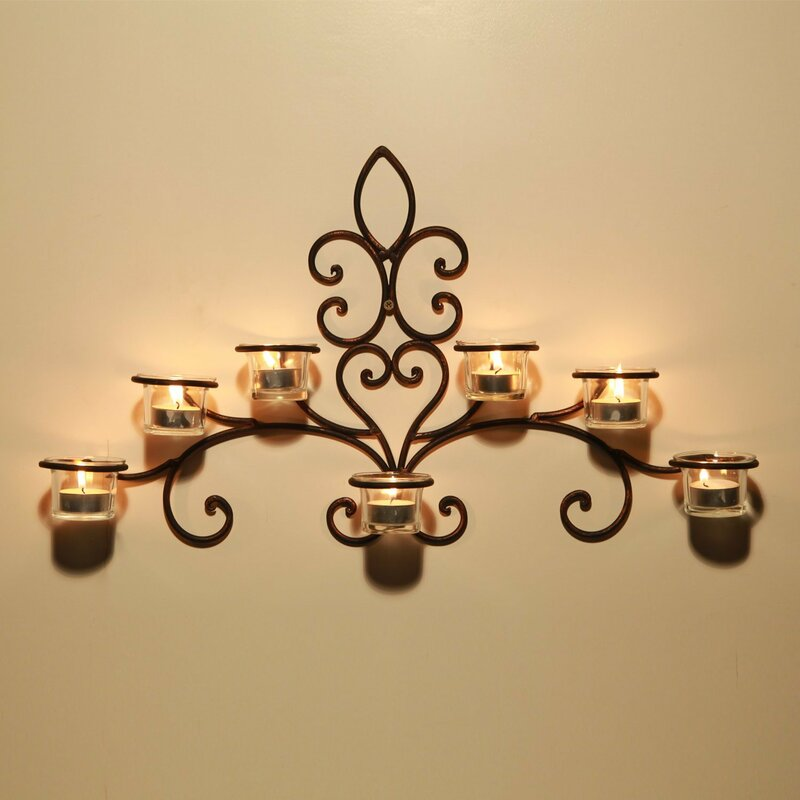 Exceptional Iron Wall Sconce Candle Holder