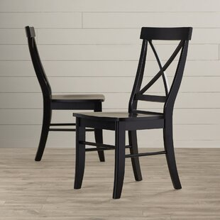 Sawyer Cross Back Solid Wood Dining Chair (Set Of 2)