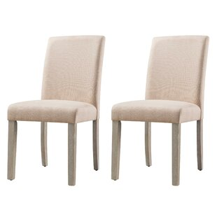Allerton Upholstered Parsons Chair Set of 2 by Ebern Designs