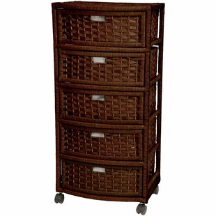 Rolling Wood Cart With Drawers Wayfair