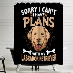 Wonderful Dream Labrador Retriever Dog Single Shower Curtain