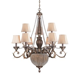 Astoria Grand Moody 11-Light Shaded Chandelier