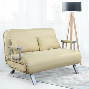 Check Prices Dunleavy Folding Convertible Sofa by Ebern Designs Reviews (2019) & Buyer's Guide