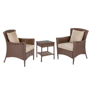 Beamer 3 Piece Conversation Set with Cushions by Bloomsbury Market
