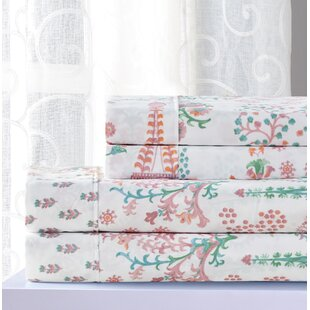 Pedra Floral Sheet Set by Red Barrel Studio Today Sale Only