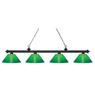Zephyr Contemporary 4-Light Steel Billiard Light by Red Barrel Studio
