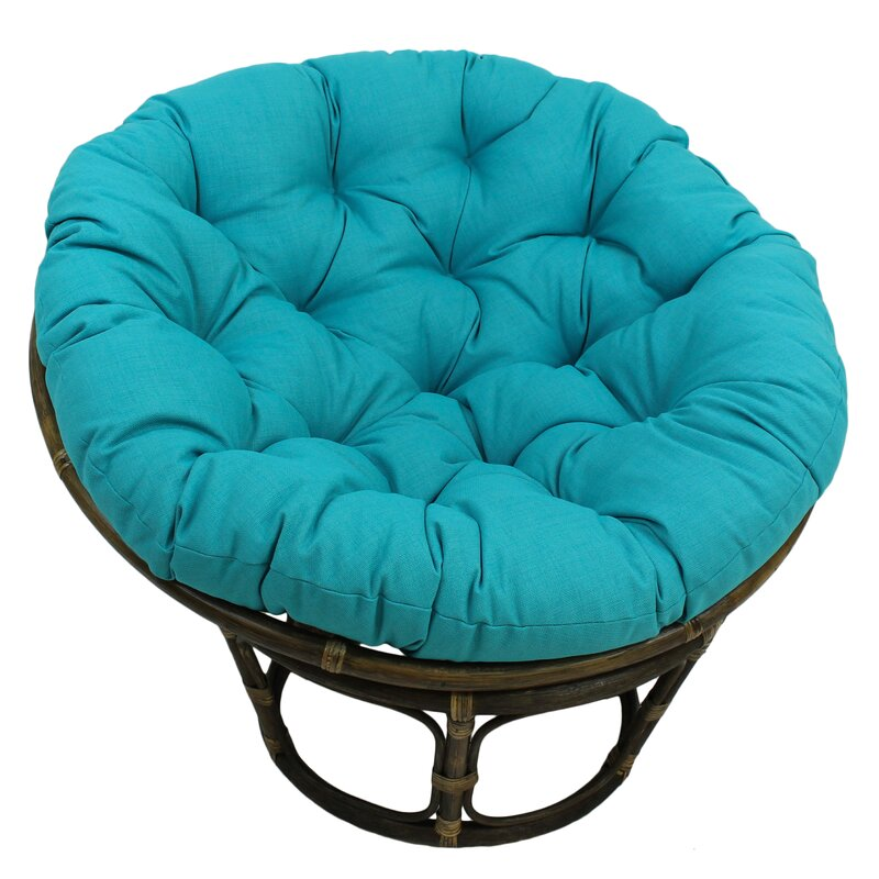 default_name - Bungalow Rose Benahid Outdoor Rattan Papasan Chair With Cushion