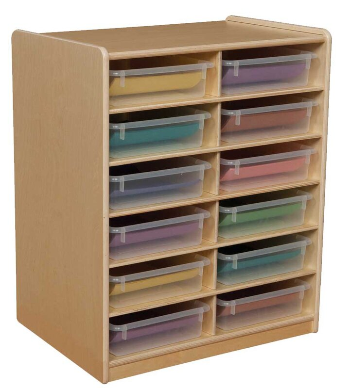 Letter Storage Unit 12 Compartment Cubby With Trays
