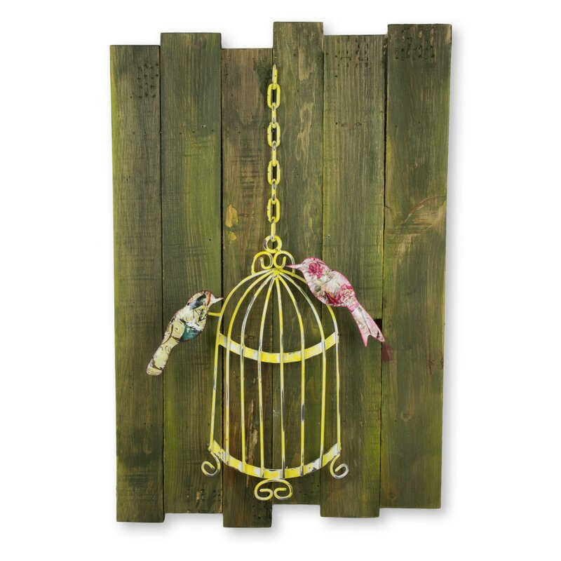 Birds Fly Free Mexican Hand Crafted Birdcage Sculpture Wall Décor Awesome Design