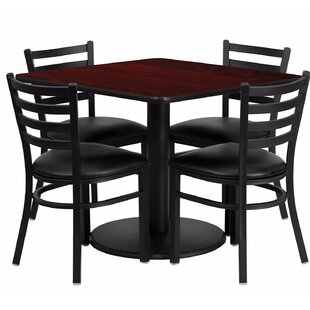 Maxey Square Laminate 5 Piece Dining Set