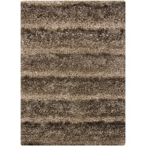 Stickler Brown Area Rug