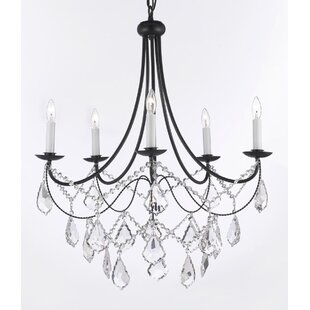 Price Check Clemence 5-Light Chandelier By Rosdorf Park