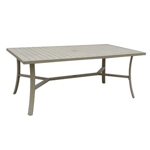 Caressa Outdoor Aluminum Dining Table by Darby Home Co Modern