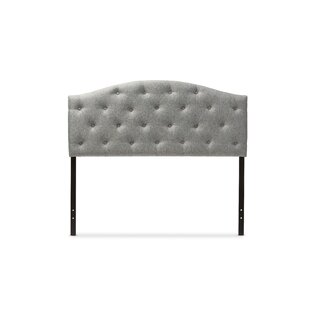 Shop For Myra Gray Scalloped Full Upholstered Panel Headboard by Wholesale Interiors