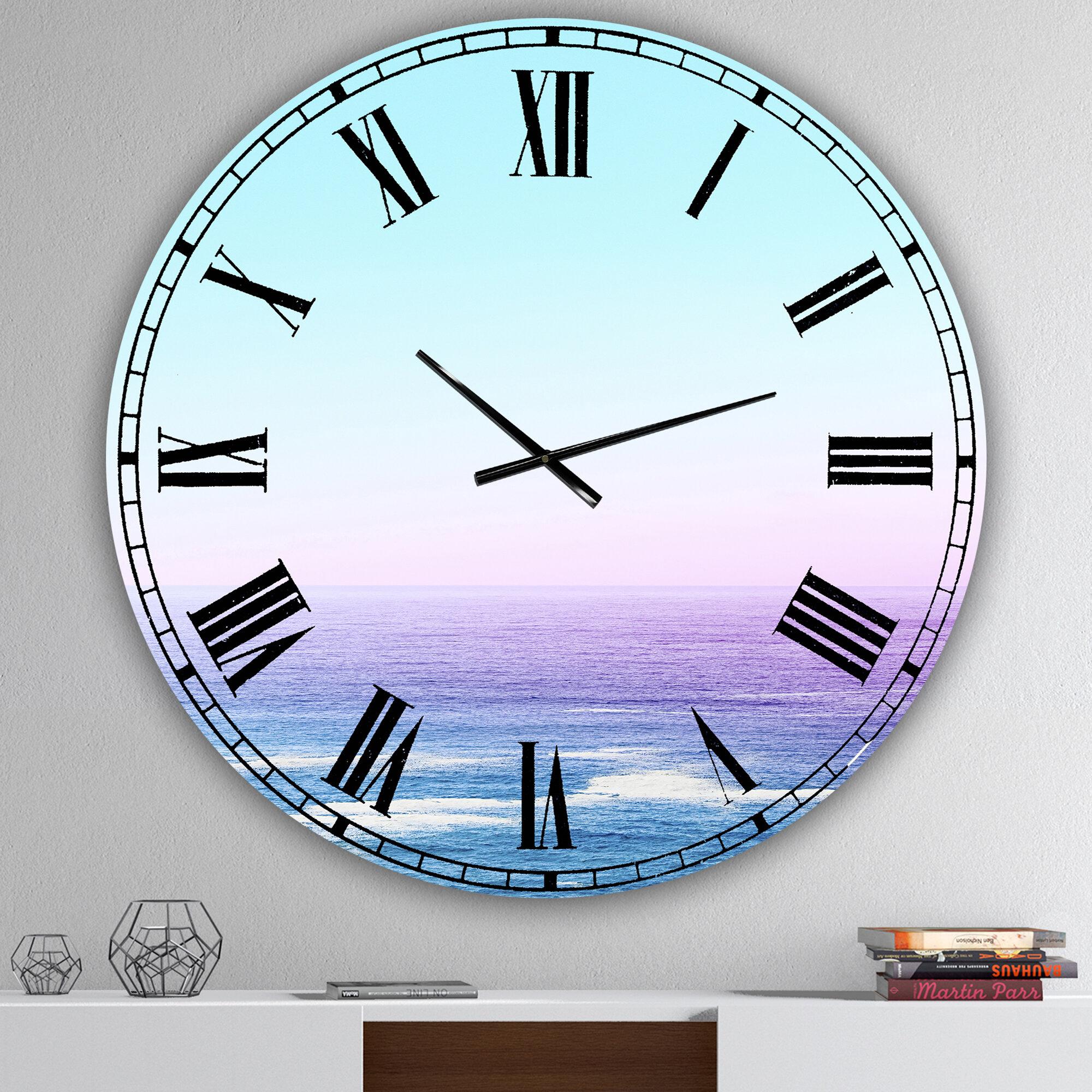 East Urban Home Oversized Ocean View Wall Clock Wayfair
