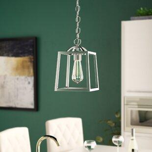 Senter 1-Light Lantern Pendant by Willa Arlo Interiors