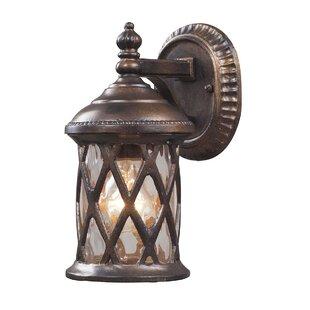 Whittington 1-Light Outdoor Wall lantern by Fleur De Lis Living