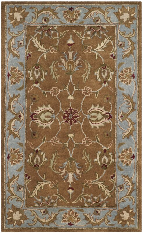 Delightful Taylor Brown Tufted Wool Area Rug