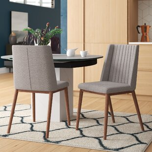 Mayton Mid-Century Upholstered Dining Chair (Set of 2) Mercury Row