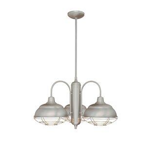Bruges 3-Light Shaded Chandelier by Trent Austin Design