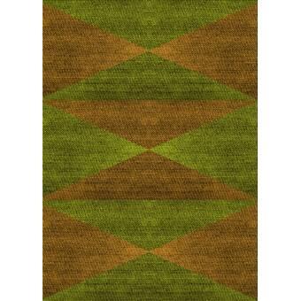 East Urban Home Jandreau Geometric Wool Green Area Rug Wayfair