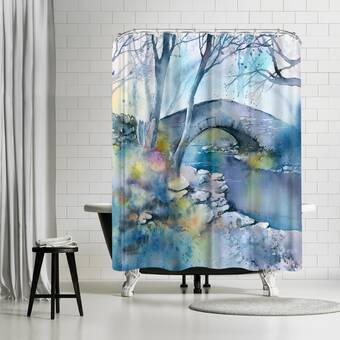 East Urban Home Rachel Mcnaughton Evening Stroll Single Shower Curtain Wayfair