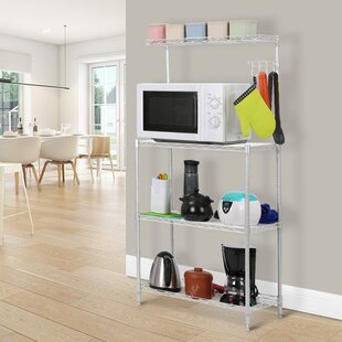 47.24 H x 16.54 W Microwave Shelving Unit by LANGRIA