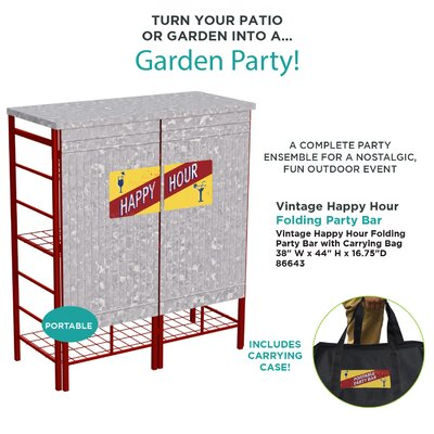 Albee Pop-up Galvanized Home Bar by Williston Forge 2020 Coupon