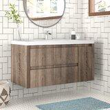 Valerie 42 Wall-Mounted Single Bathroom Vanity Set by Foundstone™