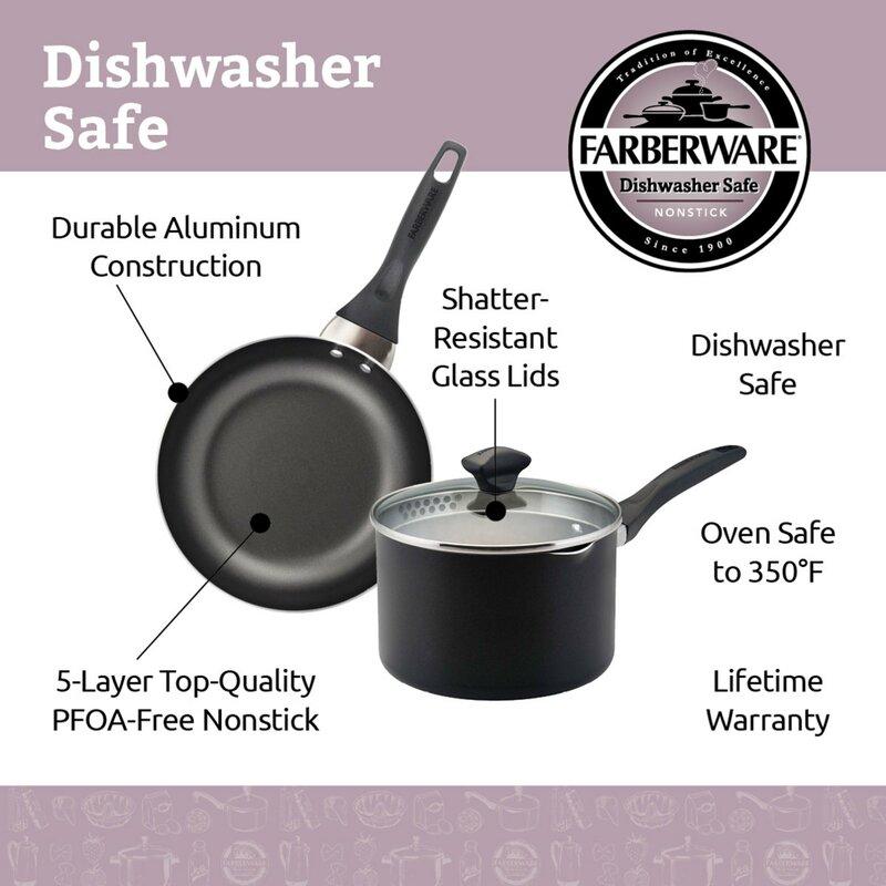 Farberware Cookware 15 Piece Non-Stick Cookware Set