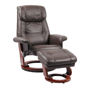 Mongillo Leather Recliner and Ottoman
