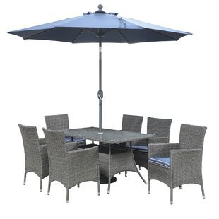 Morecambe 7 Piece Dining Set with Cushions