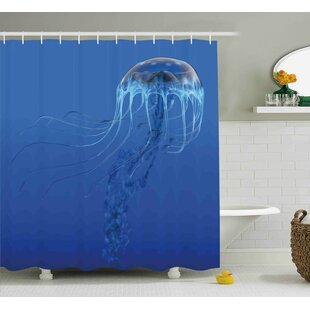 Order Roy Blue Ocean Animal Shower Curtain ByHighland Dunes